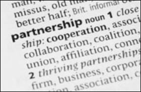 definition of the word partnerships